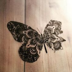 Gorgeous butterfly mandala