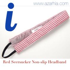 Red seersucker headband, Azarhia
