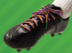 Stonewall and Paddy Power are asking soccer players to wear rainbow laces to support gay footballers.