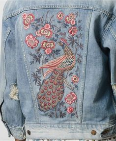 embroidery on denim - Google Search