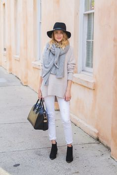 white + taupe + gray