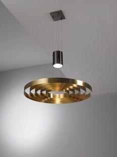 Lampada a sospensione in ottone DARK LIGHT MA 10 by Laurameroni