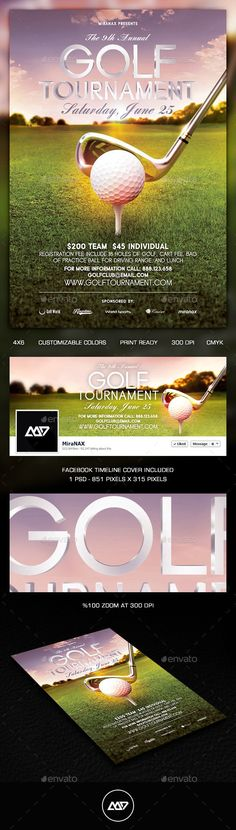 Golf Tournament Flyer Template Golf, Flyer template and Template - golf tournament flyer template