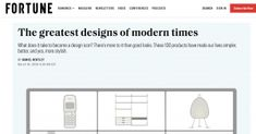 100 Great Designs of Modern Times, A summary of IIT Institute of Design's 2020 comparative research study, co-published with Fortune magazine. Fortune Magazine, Institute Of Design, Research Studies, Modern Times, Design Reference, Study, Studio, Investigations, Studying