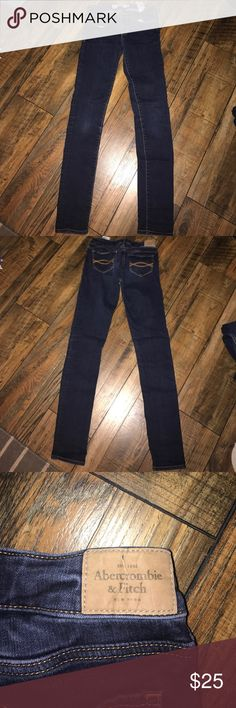 Abercrombie and fitch skinny jeans Size 0R from Abercrombie and fitch dark blue no rips or tears. Abercrombie & Fitch Jeans Skinny