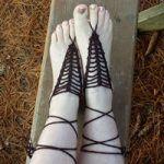 It's V Stitch Barefoot Sandals Free Crochet Pattern