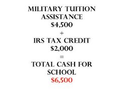 Add $2k to your military tuition assistance
