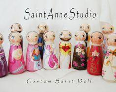 Saint Genevieve Doll Catholic Saint Doll by SaintAnneStudio