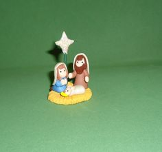 Polymer clay Nativity by JHMiniatures on Etsy, $11.00
