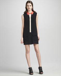 Sleeveless Colorblock Lucida Dress by Equipment at Bergdorf Goodman.