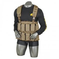 Stay prepared with this chest rig capable of carrying 360 rounds of in 12 magazines stored in twelve chest pouches.