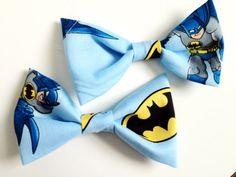 Blue Batman Hair Bows (set of two) NEEDDDDD