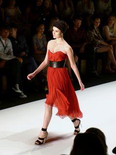 Model at DIMITRI Spring/Summer 2013 - Mercedes Benz Fashion Week - http://olschis-world.de/  #DIMITRI #Womenswear #Fashion