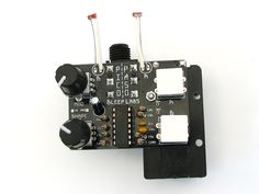 The Pico Paso is a stepped tone noise noise synth designed by Dr. Bleep for Handmade Music Austin.  It's similar to the Atari Punk synth, aka Forrest Mims' stepped tone generator, but uses two triangle wave oscillators that can be combined or used separately. A wave shaper and square wave LFO are used to increase the aural ridiculousness.