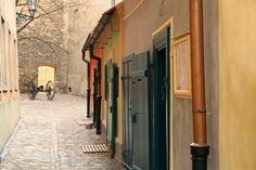 Golden Lane in Prague, Czech Republic.