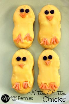 Nutter Butter Chicks!  These are so cute!