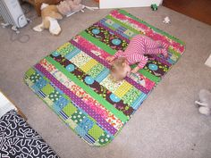 Quilt-as-you-go Echino quilt by kit-bik quilts, via Flickr