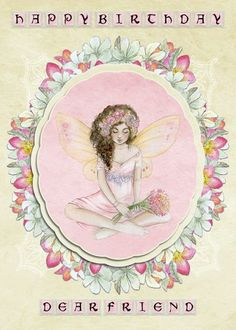 Using Fantasy Fairies from Daisytrail, to create this card front idea... Additional effects include punched materials, clustering of flowers and some colour changes.