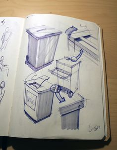 Waste container sketches