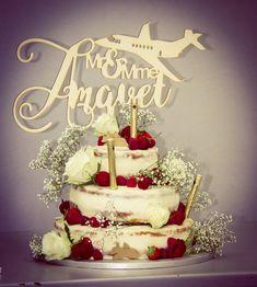Cake topper Avion nom