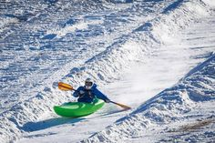 In New Hampshire, paddlers are enjoying snow paddling at the first annual Boat Bash Snow Crash. Looks awesome.