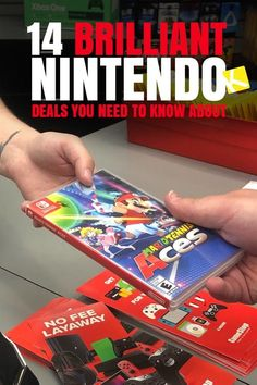Need to save money on Nintendo this Christmas? Us too! Nintendo deals are hard to come by, especially on consoles, so, The Krazy Coupon Lady wants to make sure you're getting the best possible deal when you purchase Nintendo products. Whether it's you or your kids playing Mario Kart, Splatoon, The Legend of Zelda, and all the rest, you should know how to get the best prices on your Nintendo Switch, games, and accessories. #nintendo #gaming #savemoney Cheap Video Games, Video Games For Kids, Money Games, Games To Buy, Nintendo Pokemon, Pokemon Games, Birthday Freebies, Game Sales, Old Games