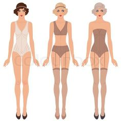 rare to find flapper undergarments illustration, vector file $12.50