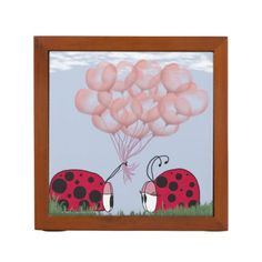 Will You Be Mine? Desk Organizers.  $30.95 Created by #OneArtsyMomma