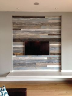 Wood Walls Living Room Design Ideas peel-and-stick wood panels provide an instant reclaimed look | co