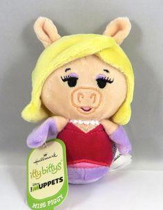 Hallmark Itty Bittys Bitty MISS PIGGY The Muppets Sesame Street - Plush Toy NWT #Hallmark