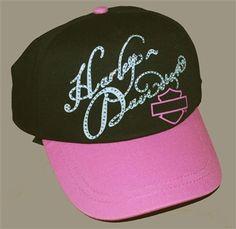 Girls Baseball Cap Pink Bar & Shield.