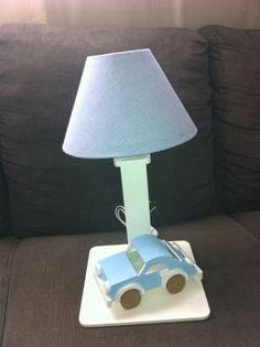 Luartebaby Artesanato: Abajur para quarto de bebe com carrinho de madeira...
