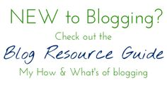 Blog Resource Guide