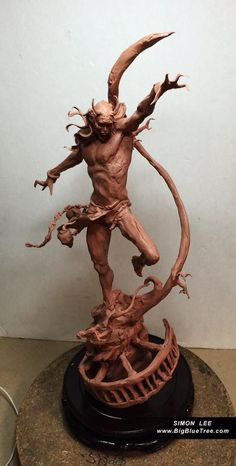 From Simon Lee Workshop at the Mill Los Angeles Fantasy Figures, 3d Figures, Action Figures, Art Sculpture, Outdoor Sculpture, Toy Art, Zbrush, Arte Popular, 3d Prints