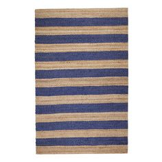 Shop for Jani Mona Blue Striped Jute Rug (8' x 10'). Get free shipping at…