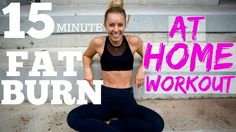 15min FAT BURNER | AT HOME FULL BODY WORKOUT!! - YouTube