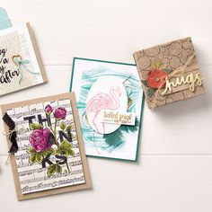 Stampin' Up! Tree Rings background Clear-Mount Stamp Set