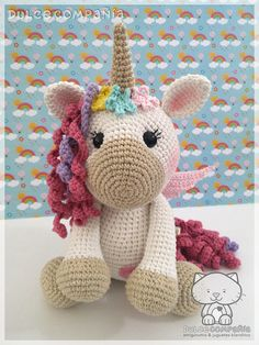 Best 12 Make your own adorable unicorn doll – unicorn crochet patterns – crochet pattern… – SkillOfKing. Crochet Unicorn Pattern, Crochet Horse, Crochet Patterns Amigurumi, Amigurumi Doll, Crochet Animals, Crochet Rabbit, Cute Crochet, Unicorn Doll, Unicorn Crafts