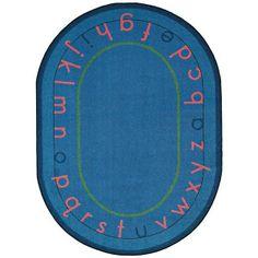 "WISH LIST: Montessori Alphabet Classroom Rug - Oval - 7'8""W x 10'9""L"