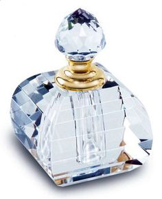 Baby Blue Cut Glass Perfume Bottle. Because my dream bathroom will have…                                                                                                                                                                                 More