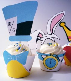 Alice In Wonderland Instant Download Cupcake by OpalandMae on Etsy, $10.00