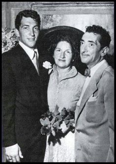 Image result for B & W photo of Dean Martin with parents