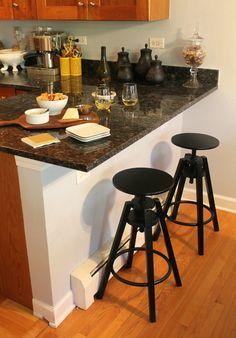 Love these IKEA bar stools Ikea Kitchen, Kitchen Furniture, Kitchen Dining, Dining Room, Kitchen Island, Buy Bar Stools, Bar Chairs, Room Chairs, Ikea Barstools