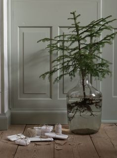 Beautiful Christmas vibe with muted colors by Lotta Agaton.