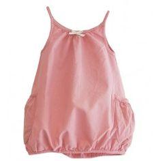 Sack dress with side pockets