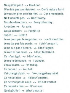 Expressions #frenchlessons