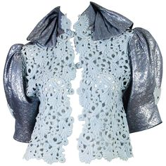 Thierry Mugler Lace and Metallic Top 1