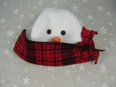 ADULT SNOWMAN HAT Winter Fleece Hat Costume Hat Snowman by HotHats, $24.95