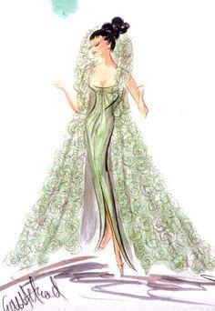Edith Head Design für Shirley Maclaine in What a Way To Go - Kopf Costume Design Sketch, Best Costume Design, Hollywood Costume, Hollywood Fashion, Film Fashion, Vintage Outfits, Vintage Fashion, Classic Fashion, Edith Head