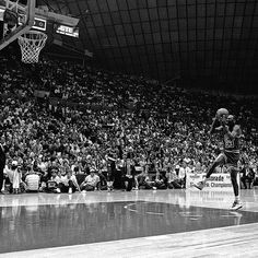 """""""On this date in 1987, Michael Jordan executed an amazing foul line jam en route to winning the Slam Dunk Contest."""""""